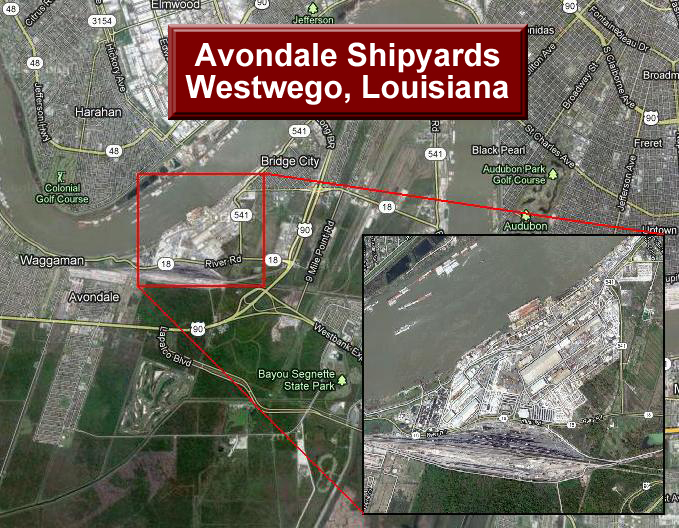 Avondale Shipyards | Louisiana Asbestos Jobsite Lawyer